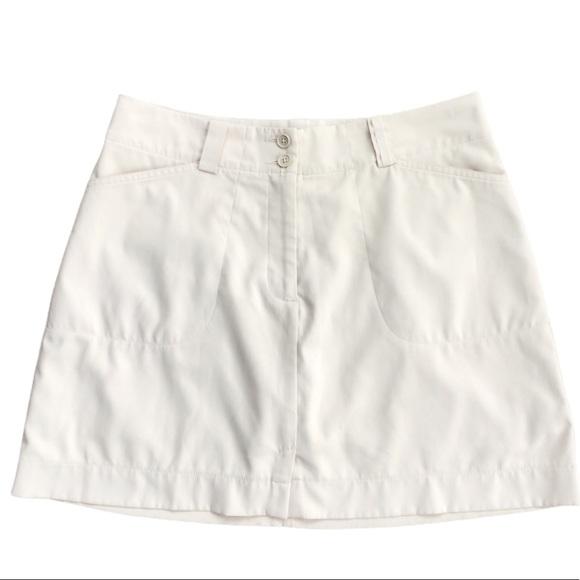 Women's Nike Golf SKORT Dri Fit Tan 10 Pockets